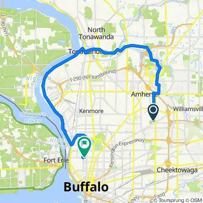 68 Charlestown Rd, Buffalo to 562 W Ferry St, Buffalo