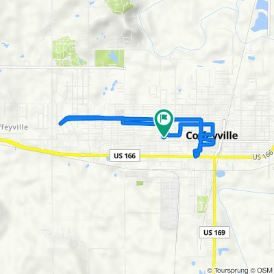809 Lincoln St, Coffeyville to 811 Lincoln St, Coffeyville