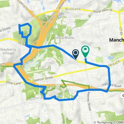 653 Center St, Manchester to 109 St John St, Manchester