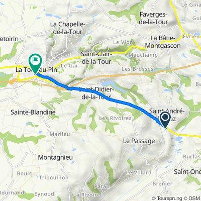 De 7 Lotissement le Châtaignier, Saint-André-le-Gaz à 6 Rue Justin Vernet, La Tour-du-Pin