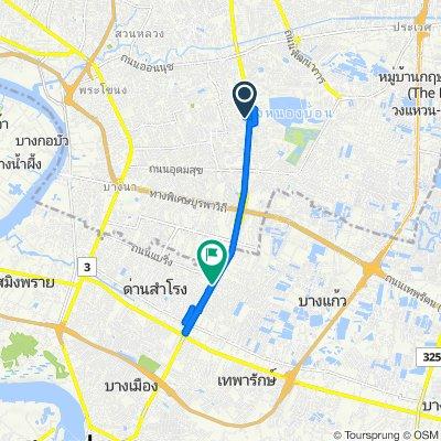 Soi Srinagarindra 40 26 to Srinagarindra Road 406/6, Tambon Sam Rong Nua