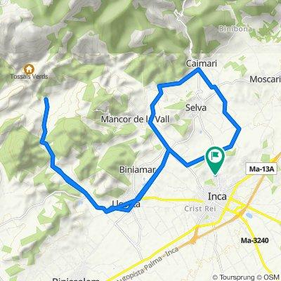 Mallorca: Inca-Caimari-Mancor-Lloseta-clot d'Almadrà-Inca