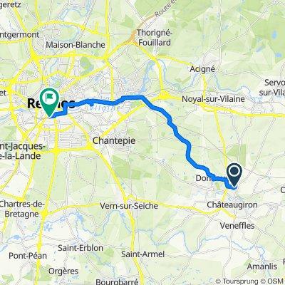 De Rue des Toiles 38, Châteaugiron à Boulevard du Colombier 15, Rennes