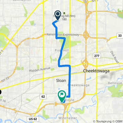 1597 Kensington Ave, Buffalo to 609 Dingens St, Buffalo
