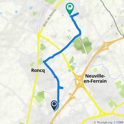 De 70 Rue du Dronckaert, Roncq à 107–127 Route de Neuville, Halluin