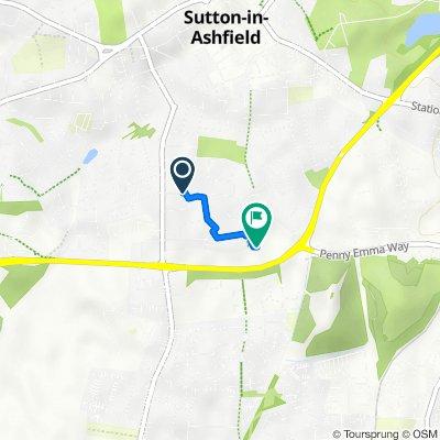 34 Collins Ave, Sutton-In-Ashfield to Clare Road, Sutton-In-Ashfield