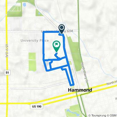 1621–1635 N Oak St, Hammond to 301–331 Texas Ave, Hammond
