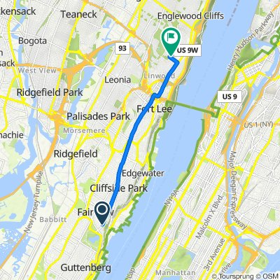 Palisade Avenue 80, Cliffside Park to Anderson Avenue 57, Englewood Cliffs