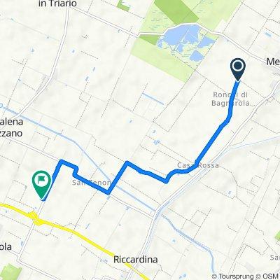 Da Via Ronchi, Budrio a Via Calamone 8, Budrio