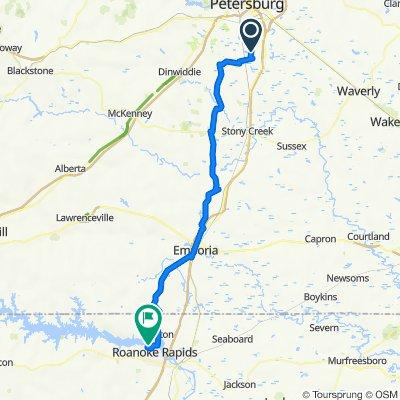 Fairwood to Roanoke Rapids