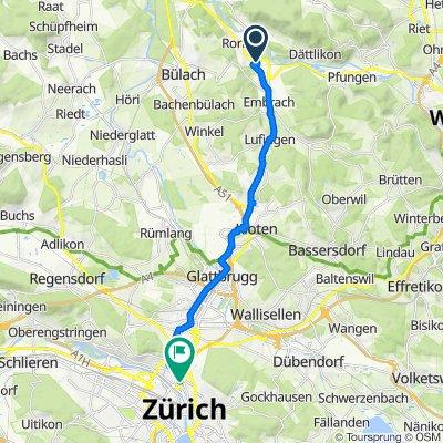 Hardstrasse 24, Embrach to Schaffhauserstrasse 7, Zürich