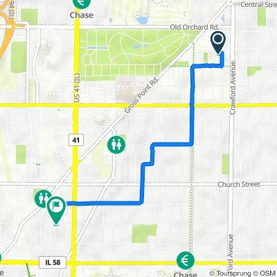 9840 Keystone Ave, Skokie to 8957 Lamon Ave, Skokie