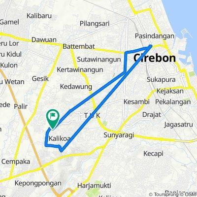 Jalan Perjuangan 88, Kecamatan Kesambi to Jalan Majasem 38, Kecamatan Kesambi