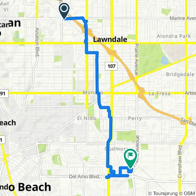 Redondo Beach, Hawthorne to Prairie Avenue 19901, Torrance