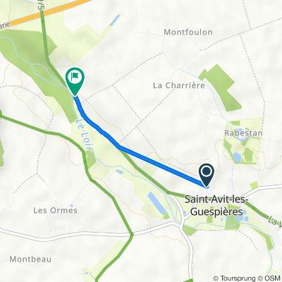 De 4 Rue de la Motte, Saint-Avit-les-Guespières à La Billanche, Illiers-Combray