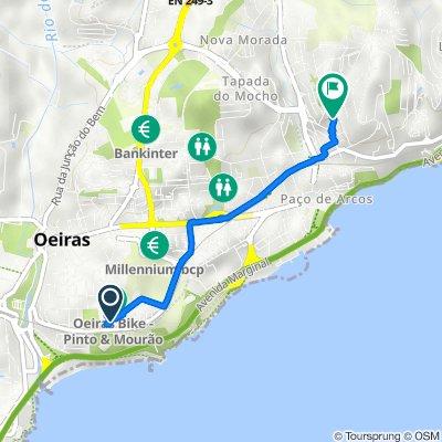 De Rua de Vera Cruz 19P, Oeiras a Praceta Gastão Ferreira 2, Paço de Arcos