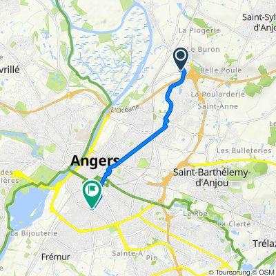 De 5 Impasse de la Chaîne, Ecouflant à 9 Rue Ravenel, Angers