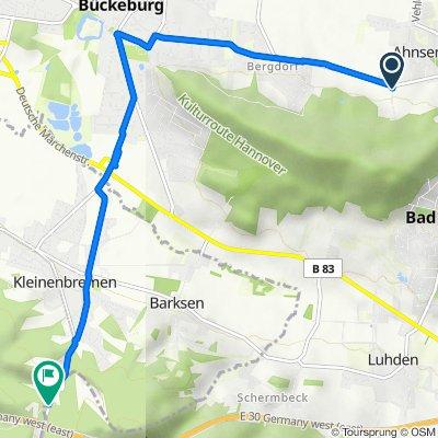 Widdenser Weg, Ahnsen nach Hauptstraße 47, Rinteln