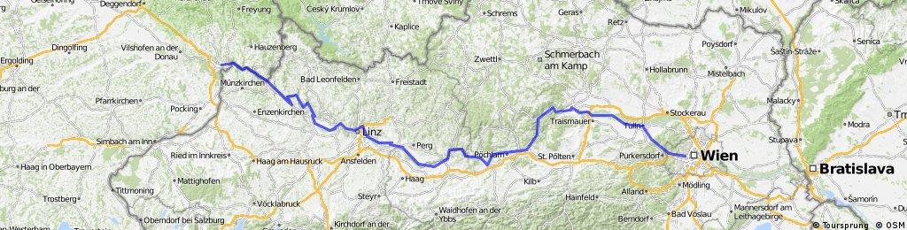 Donauradweg Teil 2: Passau nach Wien