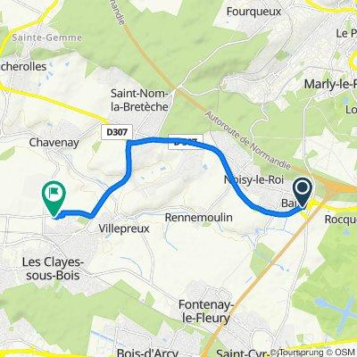 De D307, Bailly à 1 Rue des Gobelins, Villepreux