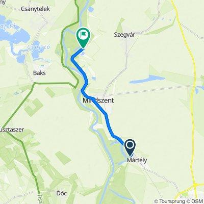 Route from Petőfi utca 7., Hódmezővásárhely