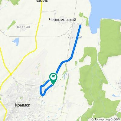 От Лебединая улица, 102, Крымск до Лебединая улица, 102, Крымск
