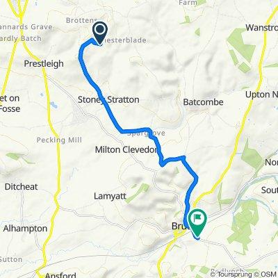 Meadow Hill, Holcombe Lane, Shepton Mallet to Durslade Farm, Dropping Lane, Bruton
