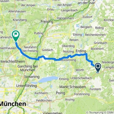 Hammersdorf 3, Buch am Buchrain to Gabelstraße 3, Fahrenzhausen