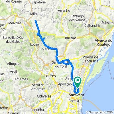 Bobadela - Cabeço de Montachique - Póvoa da Galega