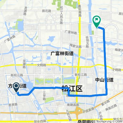 Route to No.149 Yinze Road, Shanghai