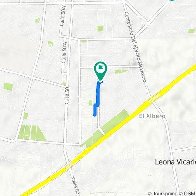 De Calle 135 830-16, Mérida a Calle 135 833-18, Mérida