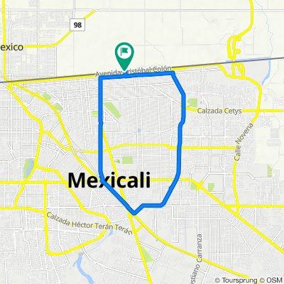 De Avenida Cristóbal Colón 592, Mexicali a Avenida Cristóbal Colón 592, Mexicali