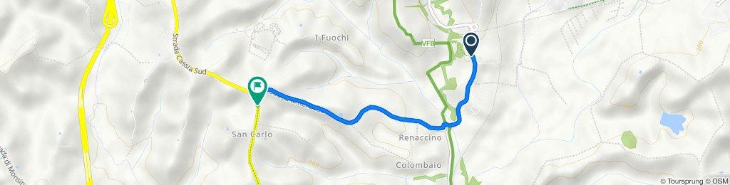 Strada di Certosa 168, Siena nach Strada Cassia Sud 204, Siena
