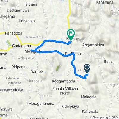 Mahingala-Udumulla Road, Padukka to කොළඹ - මඩකළපුව ප්රධාන පාර, පාදුක්ක