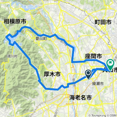 大和駅発->宮ヶ瀬ダム->大和駅戻り