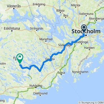 Stockholm - Södertälje - Gnesta - Flen