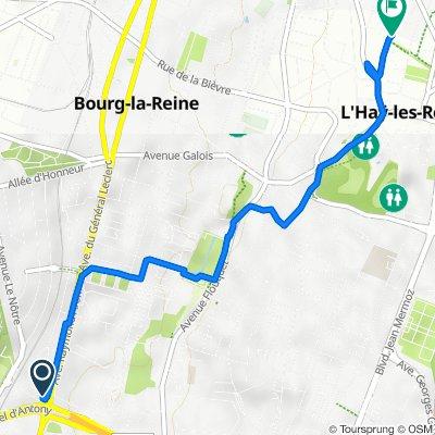 De 1000ter Avenue de Guyenne, Antony à 24 Voie des Saussaies, L'Haÿ-les-Roses