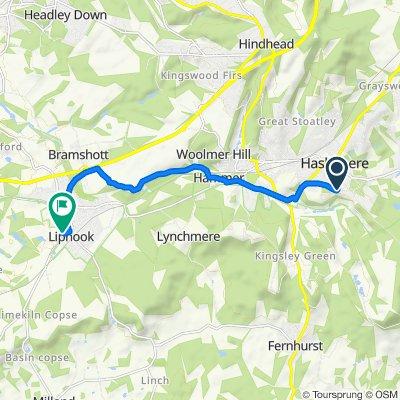 April Wood, Scotland Lane, Haslemere to Gooserye Court, 8 Goose Rye Ct, Liphook