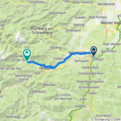Route nach Hauptstraße 49, Reichenau an der Rax