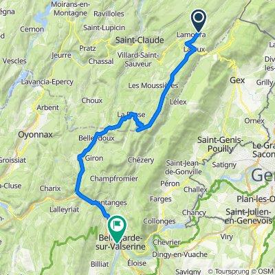 De Route de Prémanon 1507, Lamoura à Chemin de Beauséjour 1, Valserhône