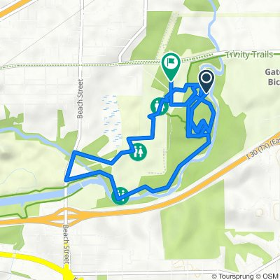 Streams and Valleys Cir, Fort Worth to 4840–4882 Gateway Park, Fort Worth