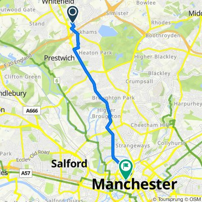 4 Berwick Ave, Manchester to 12 Bridge St, Manchester