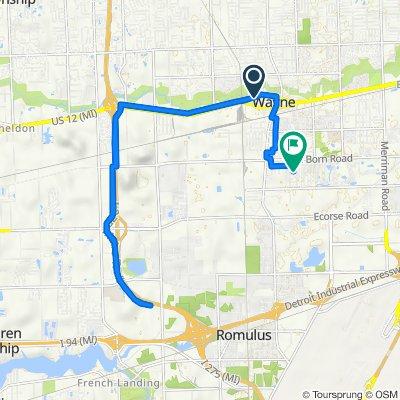 35816 W Michigan Ave, Wayne to 6069 Second St, Romulus