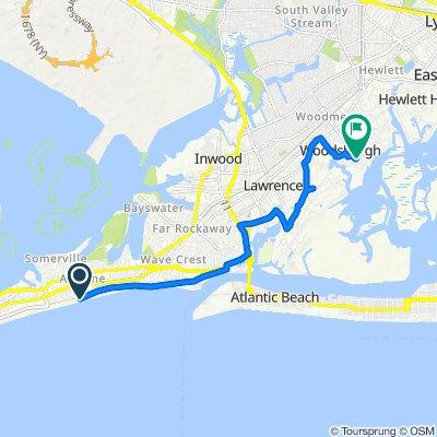 Boardwalk, New York to 160 Noye Ln, Woodsburgh
