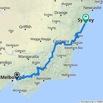 Bikepacking Sydney to Melbourne