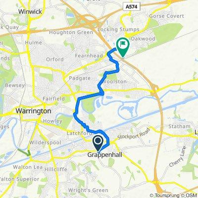 Bridgemont, Church Lane, Warrington to 860 Birchwood Blvd, Warrington