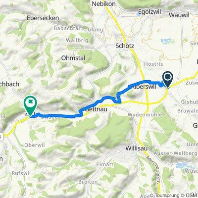 Dorf 20, Ettiswil nach Sankt Urbanstrasse 2, Zell LU