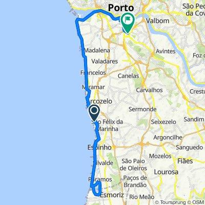 De Rua da Praia Nova 35, Vila Nova de Gaia a Travessa José Rocha 59, Vila Nova de Gaia