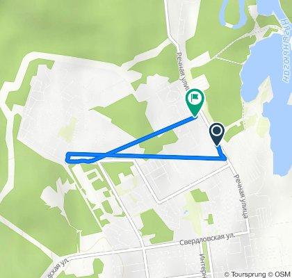 От улица Речная, 145, Нягань до Речная улица, 171, Нягань