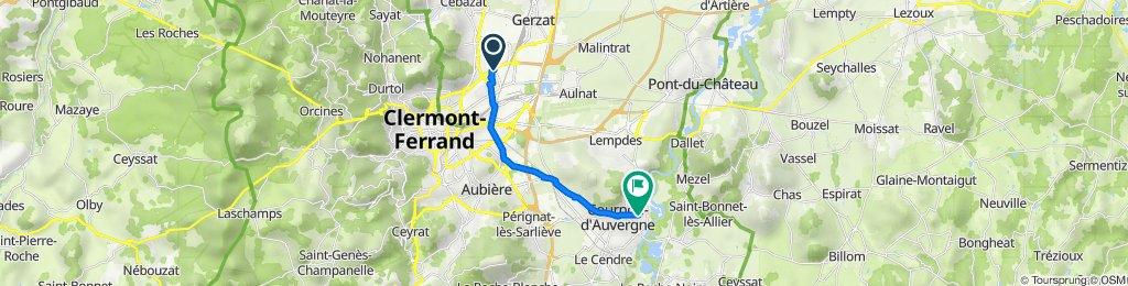 De Square de Cacholagne, Clermont-Ferrand à Avenue de l'Allier, Cournon-d'Auvergne